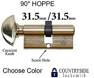 31.5/31.5 HOPPE Non Logo 90 Degree KEYED Profile Cylinder Lock, Solid Brass