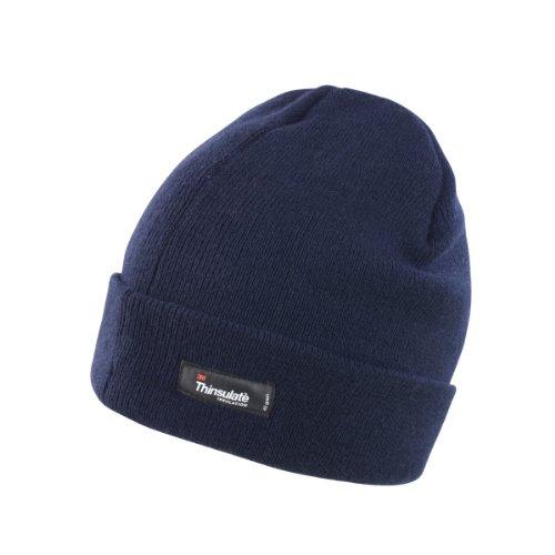 Result - Bonnet tricoté Thinsulate (3M 40g) - Adulte Unisexe (Taille Unique) (Bleu Marine)