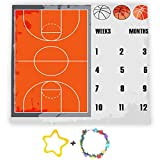 F-FUN SOUL Growing Gifts Baby Monthly Milestone Blanket, 40x40in, Basketball Court Photography Blankets, Baby Shower Growth Tracker, Newborn Mom Gifts, Included 2 Bonus Marker LHFS715