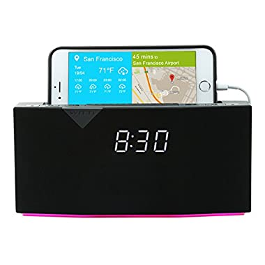 WITTI Design BEDDI Smart Radio Alarm Clock Speaker with Smart Home Integration, Black