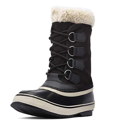 Sorel - Women's Winter Carnival Waterproof Boot for Winter, Black, Stone, 11 M US