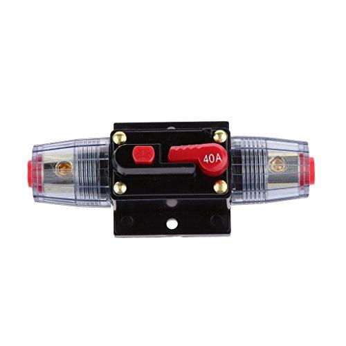 Generic 12V-24V Inline Auto eistungsschalte Manuellen Reset Schalter Car Audio Sicherung - 40a
