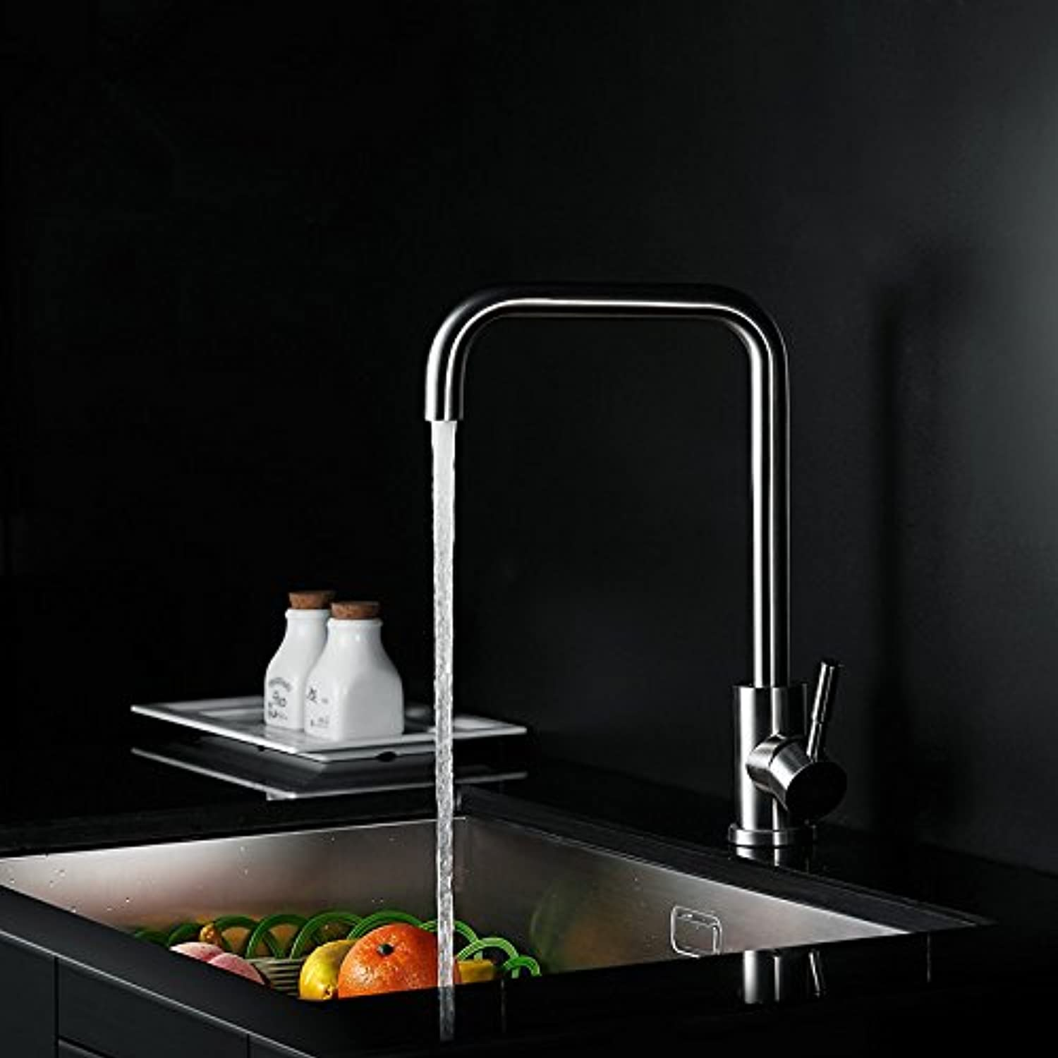 LFwbyhd Ld Kitchen faucet wash basin hot and cold water faucet 304 stainless steel lead-free environmental predection water tank drawing redatable water tap,B