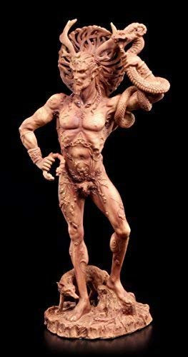 Götter Figur - Gehörnter Cernunnos - Terrakottafarben Wicca Magie Natur keltisch