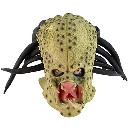 ROHXNK Halloween Horror Maske Party Alien Krieger Latex Kopf Set Dress Up Dance Performance Maske