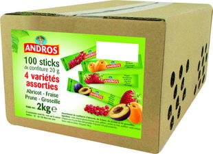 100 sticks de confiture 20 gr