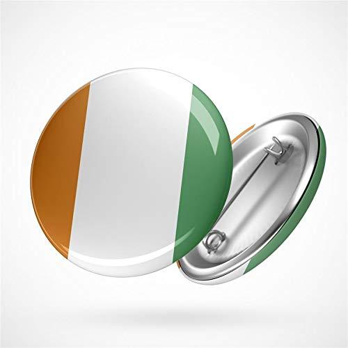 Hellweg Druckerei Button Anstecker Ivory Coast Elfenbeinküste Flagge Flag Badge Abzeichen Pin