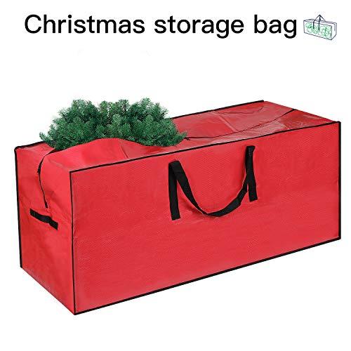 Shareconn Weihnachtsbaum Aufbewahrungstasche, Wasserdichtes Und Reißfest Atmungsaktives Aufbewahrungstasche Weihnachtsbaum Transporthülle Weihnachtsbäume Tannenbaum Aufbewahrung Tasche - Rot