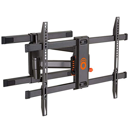 Echogear Full Motion Articulating TV Wall Mount Bracket for TVs Up to 78in, Smooth Extention, Swivel, Tilt, Wall Template for Easy Install, Centers and Levels After Mounting, Hides Cables (Renewed)