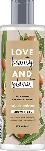 Love Beauty And Planet Majestic Moisture Duschgel, für trockene Haut Sheabutter und Sandelholzöl ohne Parabene, 1 Stück (400 ml)