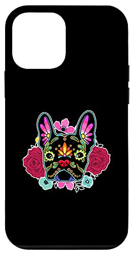 iPhone 12 mini French Bulldog Mexican Sugar Skull Dog Flowers Case
