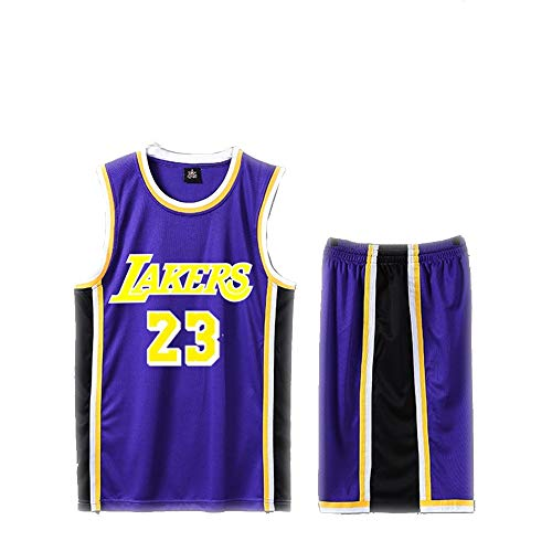 Basketball Jersey Männer T-Shirt Set - Los Angeles Lakers James 23 Weste-B-S
