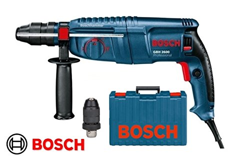 Bohrmaschine Abbruchhammer/Bohrhammer 26mm 720W SDS Plus + Bohrfutter Zahnstange BOSCH–GBH 2600Professional