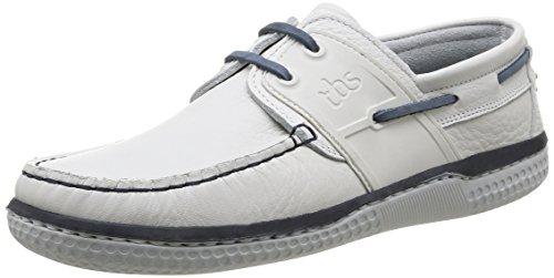 TBS Winchs, Chaussures Bateau Homme - Blanc (Blanc/Marine), 43 EU