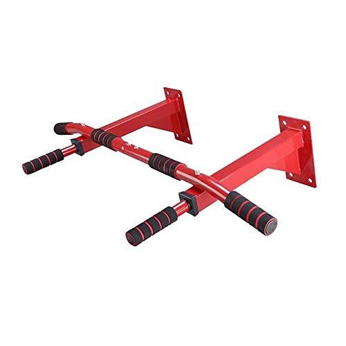 Klimmzugstange Türreck Pull Up Bar Wand Reck Innen Klimmzugbügel Home Gym Klimmzugstange Mehrere Gebraucht Klimmzugstange Sport Übung Fitnessgeräte 200KG (Color : Red)