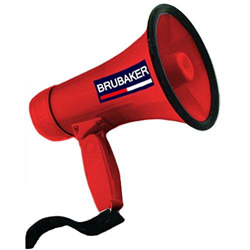 Brubaker Megafon - Funktionen: Sprechen und Sirene - Rot - Megaphon
