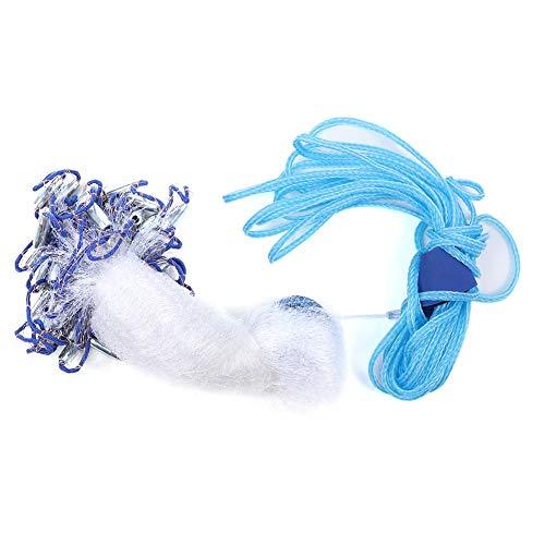 Mumusuki Angelnetz mit Hochleistungs-Sinker-Gewichten, Nylon-Monofilament-Gussnetz im amerikanischen Stil Handwurf-Angelnetz für den Außenbereich(3m)