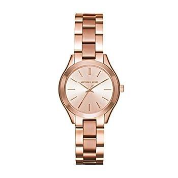 Michael Kors Women s Mini Slim Runway Rose Gold-Tone Watch MK3513