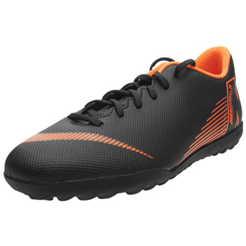 Nike Men's Vapor 12 Club TF Turf Soccer Shoes Black Orange...