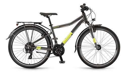 Winora Dash 26 21-Gang Kinder & Jugend All Terrain Bike 2020 (35cm, grau/gelb)