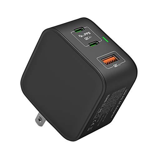 PD 充電器 65W USB-C 急速充電器 3ポート PD3.0 QC3.0対応 折りたたみ式 ACアダプター【新技術GaNを採用】超小型 軽量 iPhone12/iPhone12 Pro/MacBook/ノートパソコン/Switchなど対応 PSE認証済