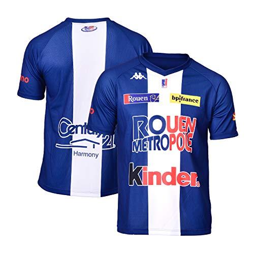 Rouen Metropole - Camiseta Oficial para Exteriores 2018-2019, Unisex Adulto, Color Azul, tamaño FR : 3XL (Taille Fabricant : 3XL)