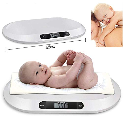 Relaxbx Digitale weegschaal voor baby's | LCD Display Elektronische digitale babybabybabyvoeding Badkamer weegschaal 20KG/44LBS | Kinderweegschalen, babygewicht (Kg/Lbs/St)