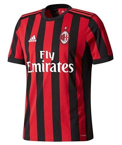 adidas ACM H JSY Camiseta 1ª Equipación AC Milán Réplica 2017-2018, Hombre, Rojo (rojvic/Negro), 2XL