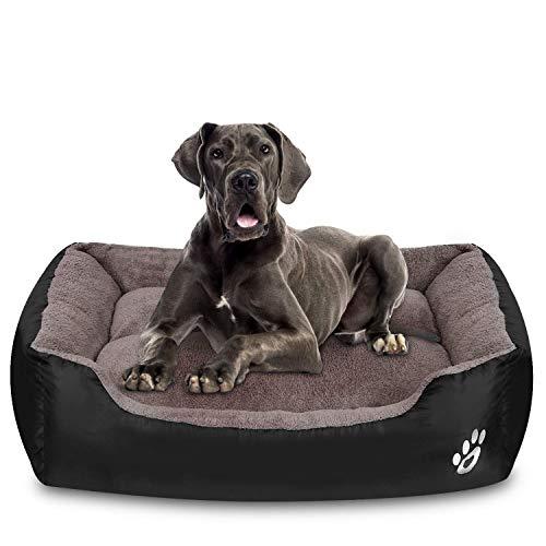 FRISTONE Waschbar Hundebett für kleine und große Hunde Hundekorb Weich Schwarz