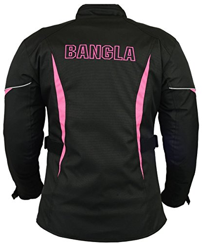 B-101 Bangla Sportliche Damen Motorrad Jacke Textil Schwarz-pink XL - 2