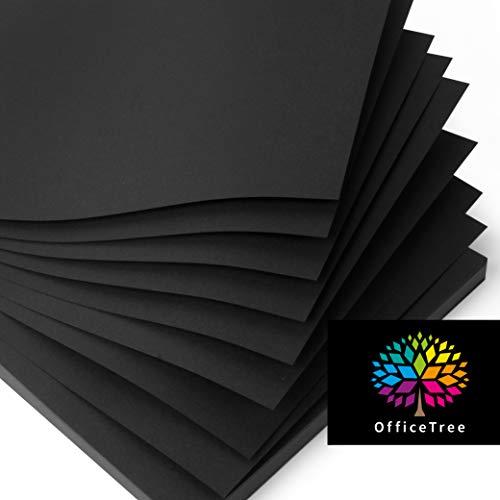 OfficeTree Tonpapier Schwarz A4 - Bastelpapier 100 Blatt 130g/m² - Tonkarton A4 Schwarz zum Basteln und Gestalten - Blauer Engel zertifiziert