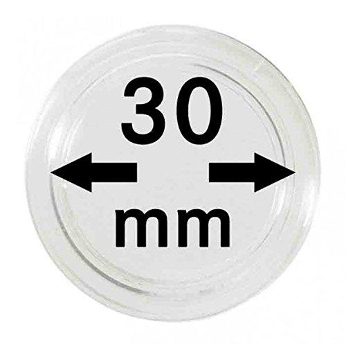 Lindner Münzkapseln für Münzen Ø 14 - 50 mm. 30mm per 10 Stück