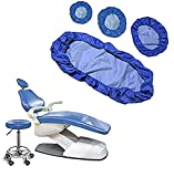 Funda para silla de tela para unidad dental, 4 piezas / juego Funda protectora completa para silla dental - Unidad de cuero de PU dental Funda para silla dental Funda para silla, Película compuesta