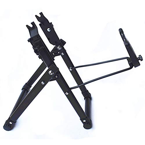 KONFA Rastrelliere, Ruota di Bicicletta Centratura Manutenzione Riparazione Biciclette Stanno Pedalare in Antine Stand-Tasca Lavoro,Nero