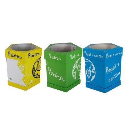 Oedim Papelera de Reciclaje | Pack Reciclaje en Cartón