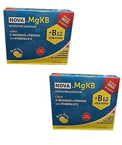 2 NOVA.MGKB 30 BST MAGNESIO E POTASSIO VITAMINA B12 SENZA ZUCCHERO AROMA LIMONE NOVA ARGENTIA