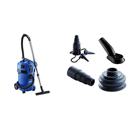 Nilfisk 18451552 Multi II 30 T Nass-/Trockensauger, 1400 W, 230 volts + Haushalts-Set für Nass-/Trockensauger Buddy Multi II