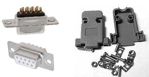Kit Connettore Vaschetta Seriale Db9 Femmina 9Pin Rs232
