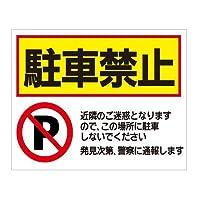 駐車場看板 駐車禁止【1】 (45cm✕60cm)