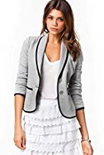 Female Slim Short Suit Tops Jacket thin Overcoat for Women Europe and the United States Style L