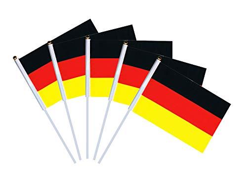 50x Stock Flag | Flaggen Picker | Stockfahne Handflaggen Deutschland (Stockfahne Deutschland)