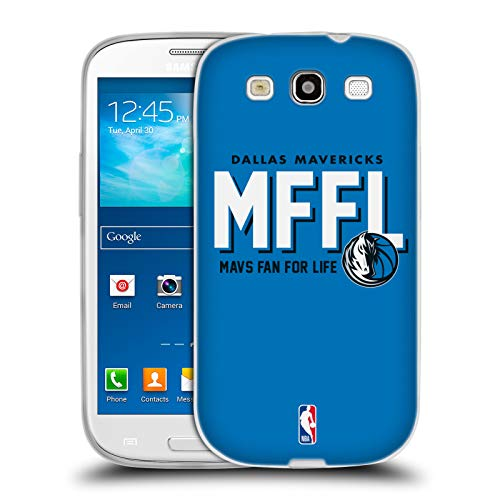 Head Case Designs Ufficiale NBA Mavericks Mavs Fan for Life 2018/19 Slogan del Team Cover in Morbido Gel Compatibile con Samsung Galaxy S3 III I9300
