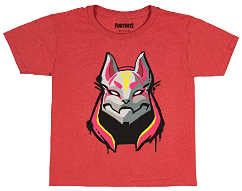 Fortnite Shirts Drift 1 Skin Graphic For Boys Red Cotton Video Game Fan Tee Large