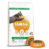 Iams Vitality - Croquettes Premium Chats Adultes 100% Complètes et équilibrées - A l'Agneau - Sans OGM Colorant Arôme...