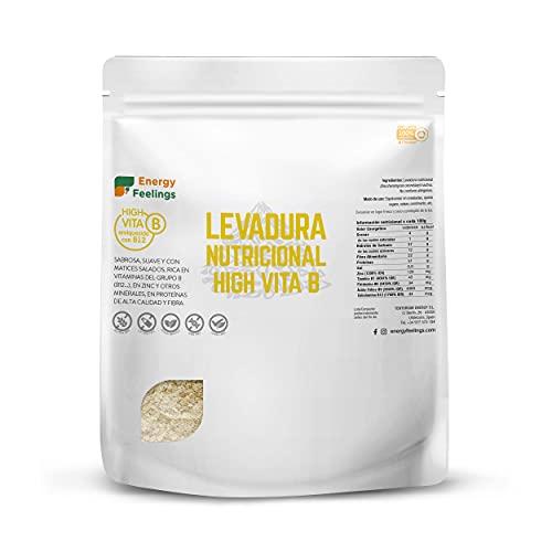 Energy Feelings | Levadura Nutricional en Copos con Vitamina B12 | Vegana | Sin Gluten | 250g