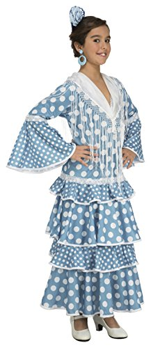 My Other Me Me-204371 Disfraz de flamenca Huelva para mujer, color turquesa, 3-4 años (Viving Costumes 204371)