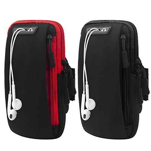 Running Armband 2 Pack, Arm Bag Phone Holder for Running, Large Capacity...