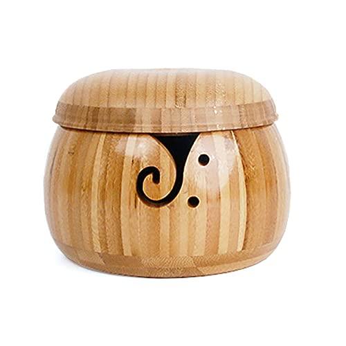 Schraube Bandeja de hilo de madera, estante para almacenamiento de hilo, cuenco de hilo hecho a...