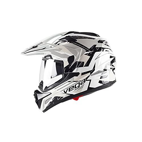 LIONCIANO Cross-Helm mit Visier DOT/ECE Zertifiziert, Motorrad-Helm MX Motocross Helm MTB BMX Cross-Bike Downhill Off-Road Enduro-Helm Moto-Cross Crosshelm(Schwarzer Fliegender Adler, 2XL=61-62cm)