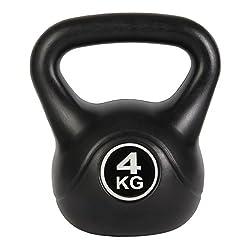 POWRX Kettlebell Kugelhantel Kunststoff 4 kg - 20 kg (4 kg)